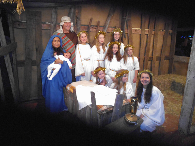 Photo of the living nativity